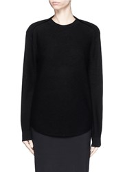 Alexander Wang Cellophane Stripe Wool Cashmere Sweater Black