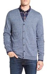 Nordstrom Men's Big And Tall Men's Shop Regular Fit Cotton And Cashmere Cardigan Blue Estate Jaspe