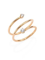 Zoe Chicco Diamond And 14K Yellow Gold Spiral Ring