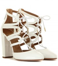 Aquazzura Patent Leather Sandals White