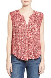 Women's Velvet By Graham And Spencer 'Casablanca' Print Sleeveless Top