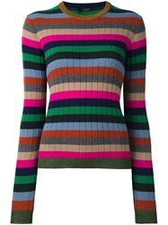 Roberto Collina Striped Ribbed Jumper Multicolour