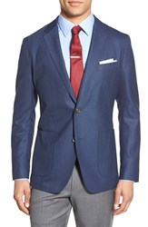 Men's Bonobos Knit Wool Sport Coat Blue