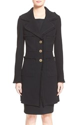 Women's St. John Collection Milano Pique Knit Coat