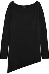 Donna Karan Asymmetric Cashmere Blend Sweater Black