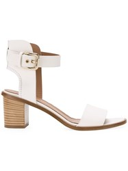 Scanlan Theodore Mid Heel Sandals White