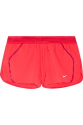 Nike Aeroswift Mesh Trimmed Dri Fit Stretch Shell Shorts Tomato Red