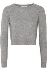 Autumn Cashmere Cropped Cashmere Sweater Gray