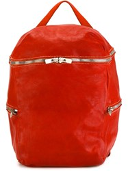Guidi Top Handle Backpack Red