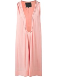 Jay Ahr Plunging Neck Shift Dress Pink And Purple