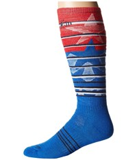Smartwool Phd Slopestyle Medium Lincoln Loop Bright Blue Men's Knee High Socks Shoes