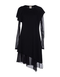 Galliano Short Dresses Black
