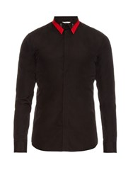Givenchy Collar Detail Cotton Shirt Black
