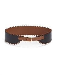 Salvatore Ferragamo Ceylon Leather Belt Black Tan