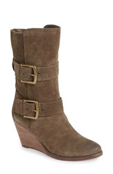 Very Volatile Women's 'Lars' Wedge Boot Khaki Suede