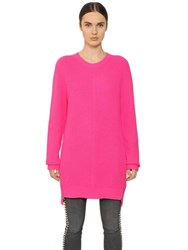 Mcq By Alexander Mcqueen Wool Rib Knit Sweater With Side Zips