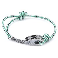 Anchor And Crew Rothesay Rope And Silver Bracelet