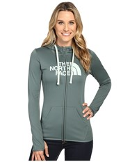 The North Face Fave Half Dome Full Zip Hoodie Balsam Green Subtle Green Women's Sweatshirt