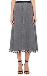 Derek Lam Women's Crochet Long Skirt Navy