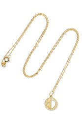 Andrea Fohrman Half Moon Phase 18 Karat Gold Diamond Necklace