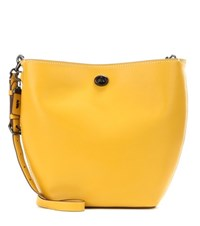 Coach Leather Crossbody Tote Bag Yellow