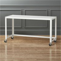 Cb2 Go Cart White Rolling Desk