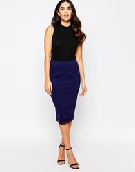 Little Mistress Midi Skirt Navy