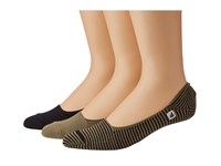 Sperry Skimmers Feed Stripe 3 Pack Black Taupe Men's Crew Cut Socks Shoes