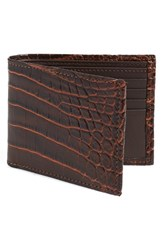 Men's Torino Belts 'Nile' Genuine Crocodile Leather Billfold Wallet