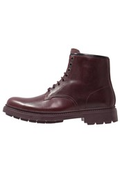 Camper Hardwood Laceup Boots Dark Red