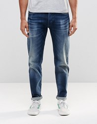 Replay 901 Tapered Jeans Stretch Dark Distressed Wash Limited Edition Dark Wash Blue