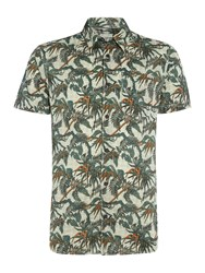 Jack And Jones Floral All Over Print Short Sleeve Shirt Multi Coloured