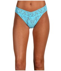 Hanky Panky Signature Lace Original Rise Thong True Blue Women's Underwear