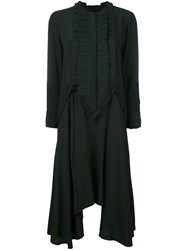 Givenchy Pleated Bib Dress Black