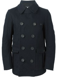 Dsquared2 Classic Double Breasted Coat Blue