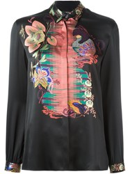 Etro Abstract Print Longsleeved Shirt Black