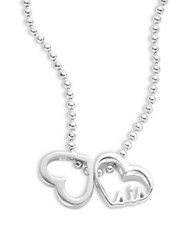 Alex Woo Little Words Sterling Silver Heart Necklace