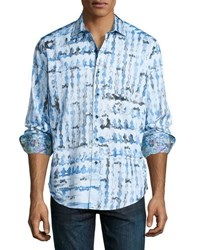 Robert Graham Shallow Ponds Woven Shirt Blue