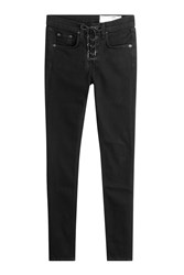 Rag And Bone Lace Up High Rise Jeans Black