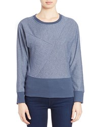 William Rast Textured Sweatshirt Ink Blue