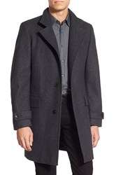Men's Big And Tall Boss 'Sintrax' Trim Fit Overcoat Charcoal