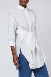 Boutique Tie Tunic Shirt By White