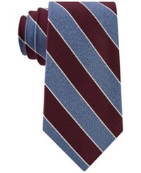 Club Room Men's Heather Stripe Tie Only At Macy's Red