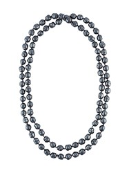 Chanel Vintage Faux Pearl Necklace Blue