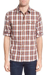 Fjall Raven Men's Fj Llr Ven 'Sarek' Regular Fit Plaid Flannel Sport Shirt Rust