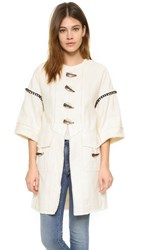 Derek Lam Coat With Toggle Closure Soft White