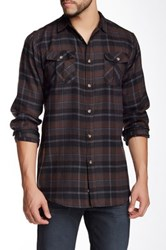 Burnside Long Sleeve Plaid Shirt Black