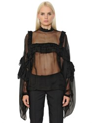 Veronique Branquinho Ruffled Tulle Shirt