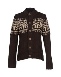 Red Soul Knitwear Cardigans Men Dark Brown