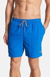 Men's Big And Tall Tommy Bahama 'Happy Go Cargo' Swim Trunks Blue Note